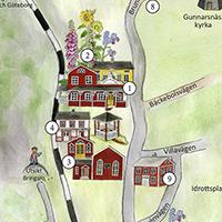 Utsnitt av karta över Dals Rostock