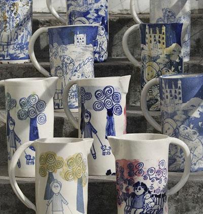 Keramik av Lena Bergsman, Dals Rostock.