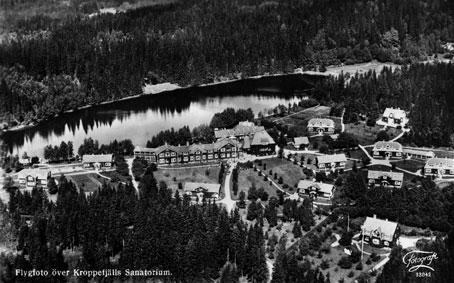 Flygfoto över Kroppefjälls sanatorium