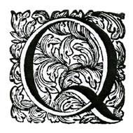 Varför har Q en svans och snabel-a en snabel?