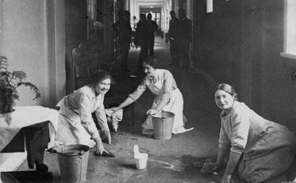 Skurning på Kroppefjälls sanatorium