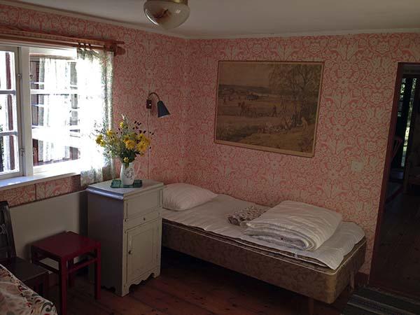 Sovrummet på nedervåningen