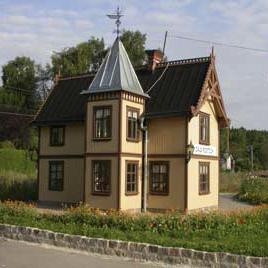Modellen av stationshuset