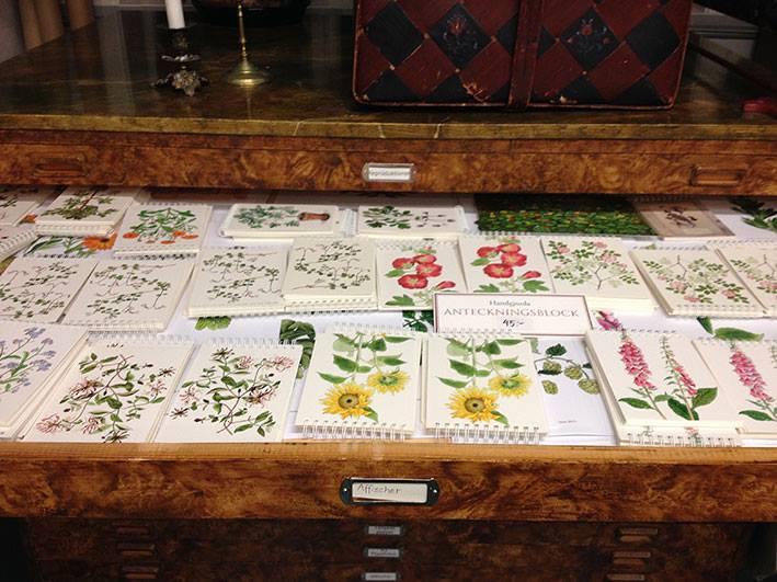 Söta, handgjorda blomsterblock av Kerstin Ljungqvist.