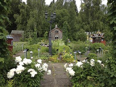 """""""Örtagården"""", the herb garden, in Dals Rostock."""